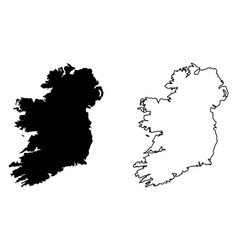 Simple only sharp corners map ireland whole vector