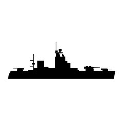 single silhouettes warships for design vector image