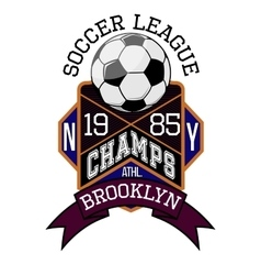 Soccer League New York Champs Brooklyn T-shirt vector