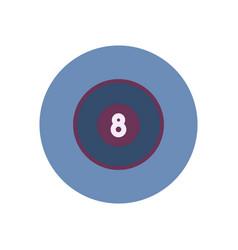Stylish icon in color circle billiard ball vector