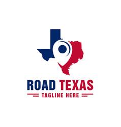 Texas city travel logo design vector