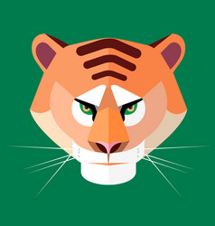 Tiger portrait vector