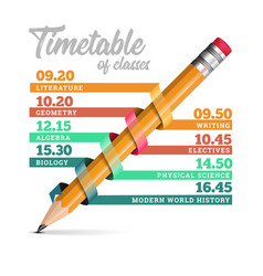 timetable or timeline design template vector image