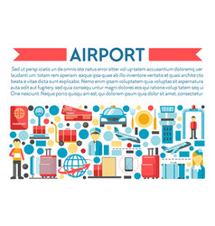 traveling and flight airport banner airplane vector image