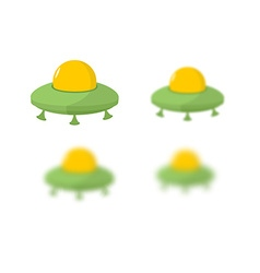 UFO Flying saucer Transport strangers Aliens UFO vector