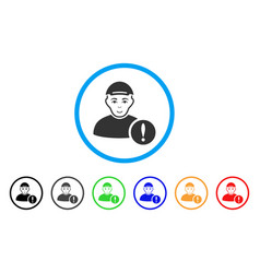 User danger rounded icon vector
