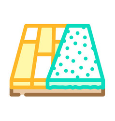 Various materials floor color icon vector