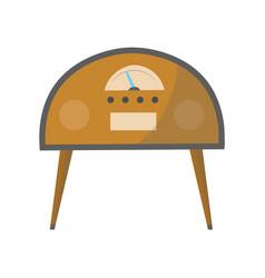 vintage music object retro radio color symbol vector image