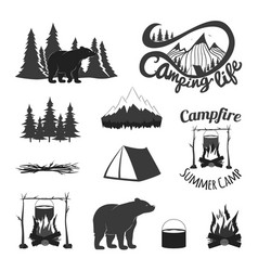 vintage set icons emblems logos and labels vector image