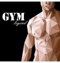 With caucasian or asian man muscle body vector