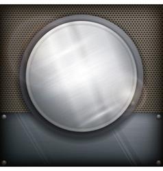 Design circle on dark vector image vector image