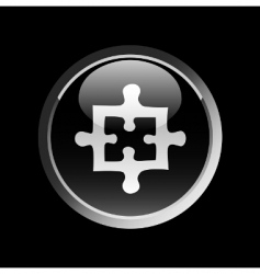 puzzle button vector image vector image