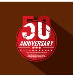 50 Years Anniversary Celebration Design vector image vector image