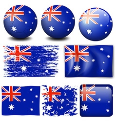 Australia flag on different item vector image vector image