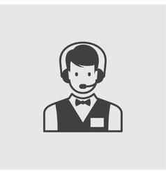 Call centre icon vector image