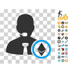 ethereum operator manager icon with bonus vector image vector image