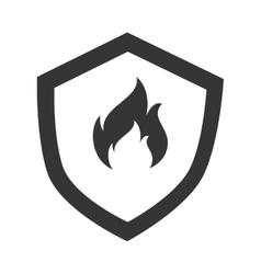 Flammable badge sign icon vector image vector image