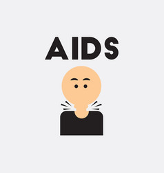 Sore throat various symptoms of aids on vector