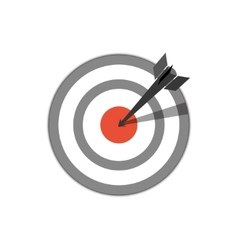 target hit vector image