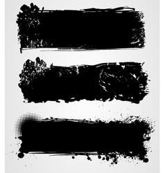 black grunge vector image vector image