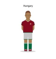 Football kit Hungary vector image