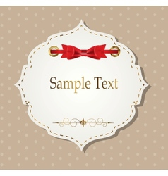 gift card with ribbons design elements vector image