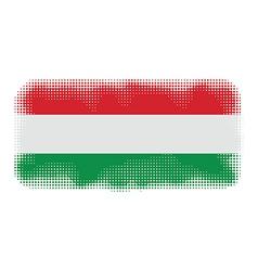 hungary flag halftone vector image vector image