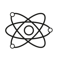 science model of atom sign vector image vector image