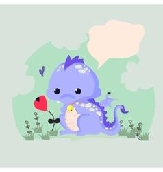 Fun of a cute dinosaur vector image