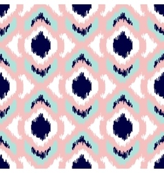 Ikat geometric seamless pattern Pink and blue vector image