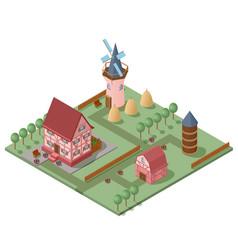 isometric farming concept vector image
