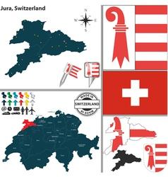 Map of jura vector