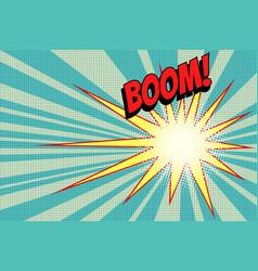pop art boom background vector image vector image
