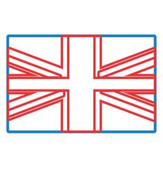 united kingdom flag icon vector image