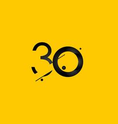 30 years anniversary celebration gradient yellow vector