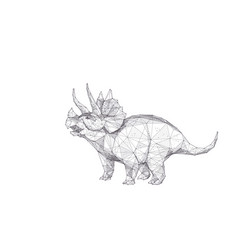 Abstract triceratops as animal sketch concept vector