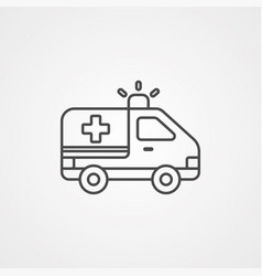 ambulance icon sign symbol vector image