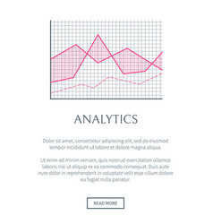 analytics web page and text vector image