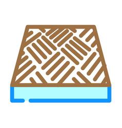Anti-slip flooring color icon vector