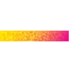banner of small triangles vector image