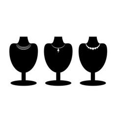 black mannequins set vector image