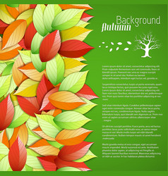 bright seasonal floral poster vector image