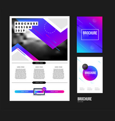 brochure template with trend gradient vector image