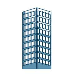 building structure architecture windows design vector image