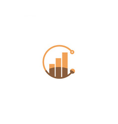 c circle logo and symbols vector image