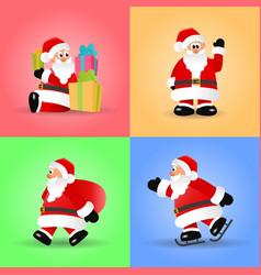 christmas set of santa claus vector image