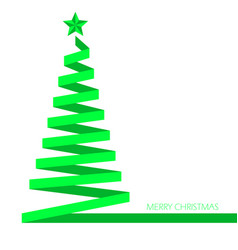 christmas tree ribbon banner eps 10 illu vector image
