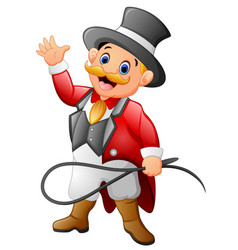 circus man cartoon vector image