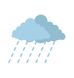 Cloud rain storm icon flat style vector
