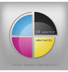 CMYK Circle vector